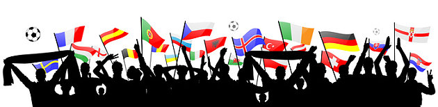 Fußball-Fans bei der EM-Party