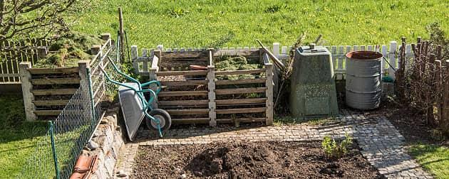 Komposthaufen abdecken im November