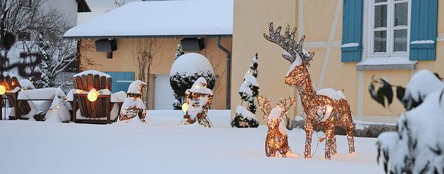 Gestaltungstipps f r den weihnachtlichen vorgarten for Gartendeko im winter